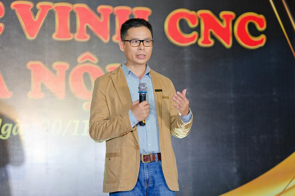 Giám đốc chi nhanh Hà Nội  Ông NGUYỄN MẠNH CƯỜNG phát biểu tại buổi lễ